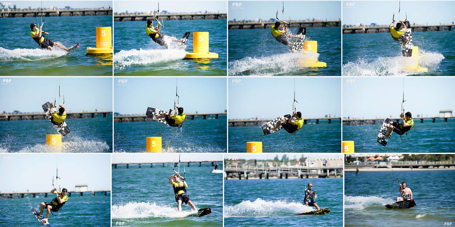 How to do Sports Photography Kiteboard Trick Sequence