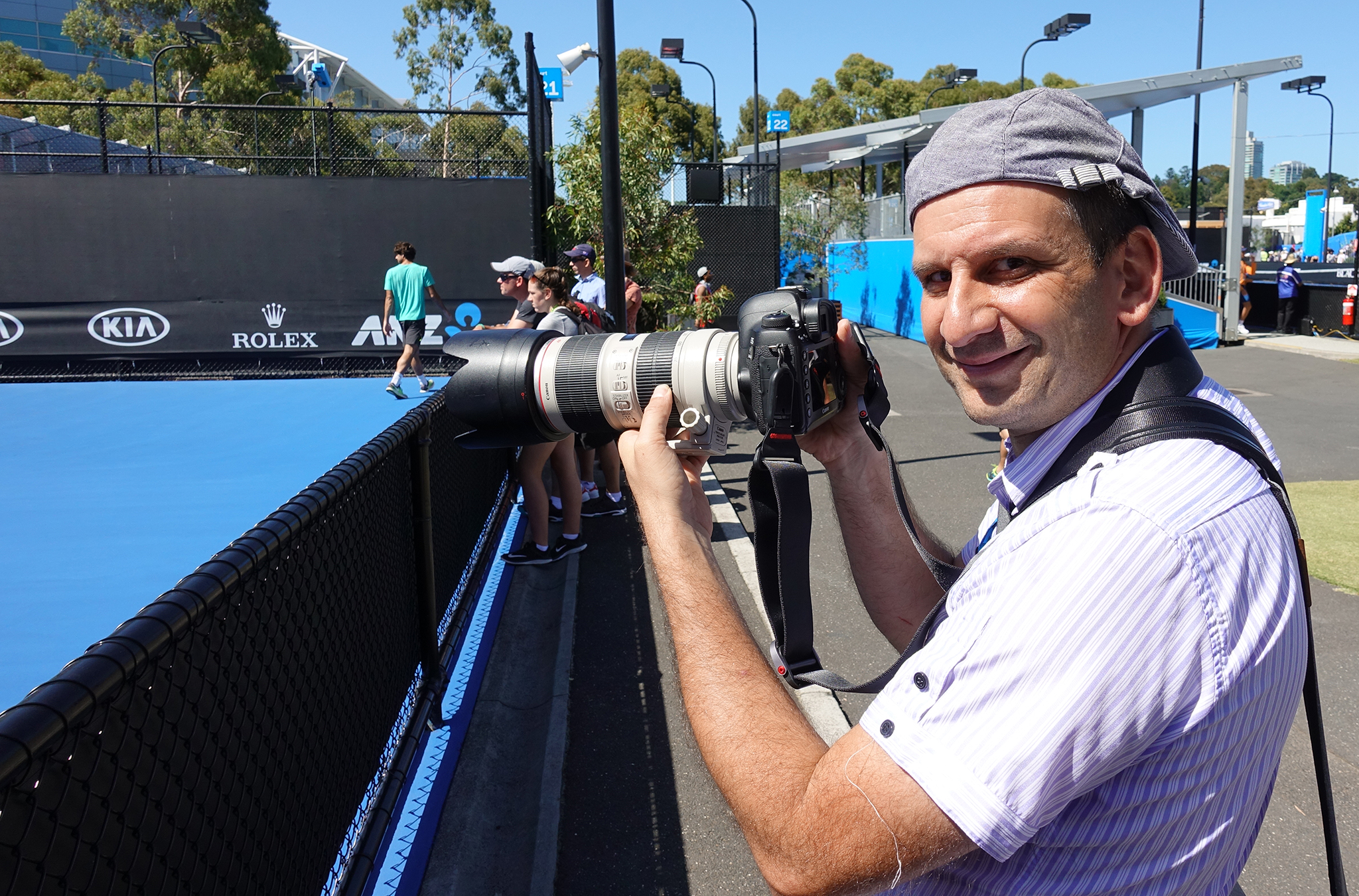 How to do Sports Photography Tennis sidelines shooting