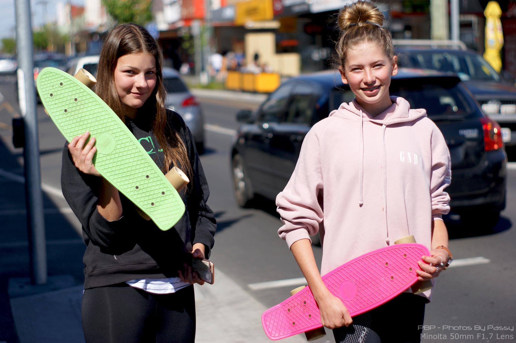 Minolta 50mm Prime Lens Skater Girls 11