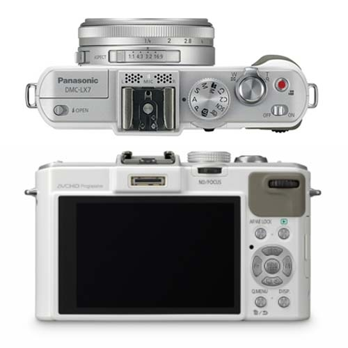 Panasonic LX7 White Top & Front